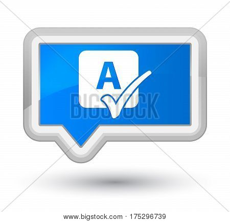 Spell Check Icon Prime Cyan Blue Banner Button