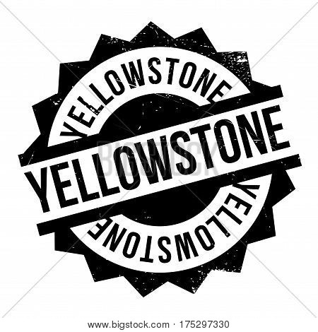 Yellowstone rubber stamp. Grunge design with dust scratches. Effects can be easily removed for a clean, crisp look. Color is easily changed.