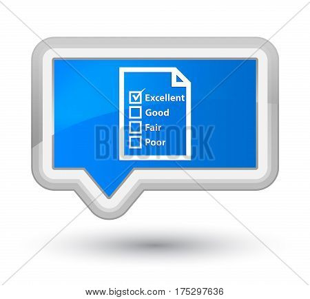 Questionnaire Icon Prime Cyan Blue Banner Button