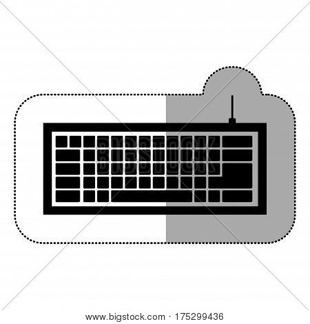 black computer keyboard icon, vector illustraction design