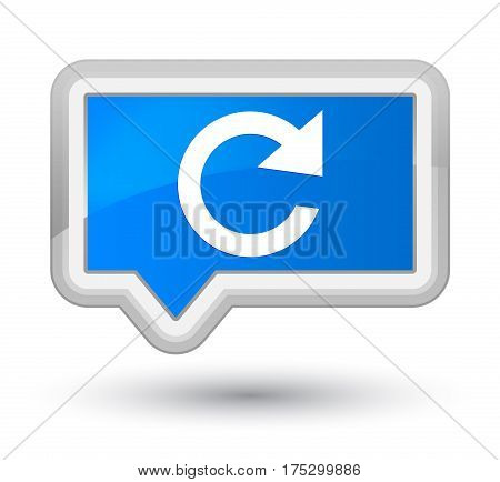 Reply Rotate Icon Prime Cyan Blue Banner Button