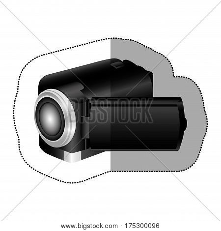 black camcorder icon image, vector illustraction design