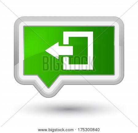Logout Icon Prime Green Banner Button