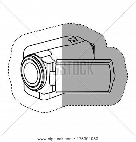 contour camcorder icon image, vector illustraction design