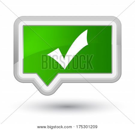 Validation Icon Prime Green Banner Button
