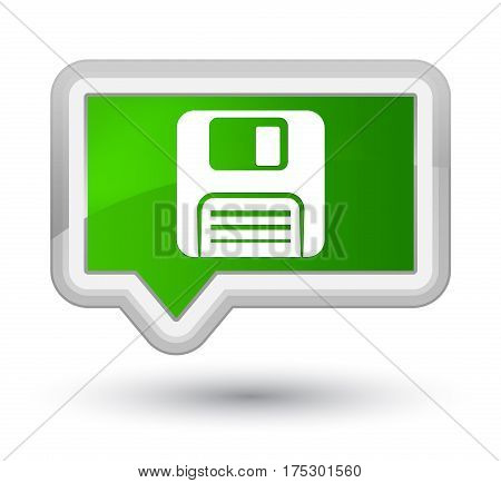 Floppy Disk Icon Prime Green Banner Button