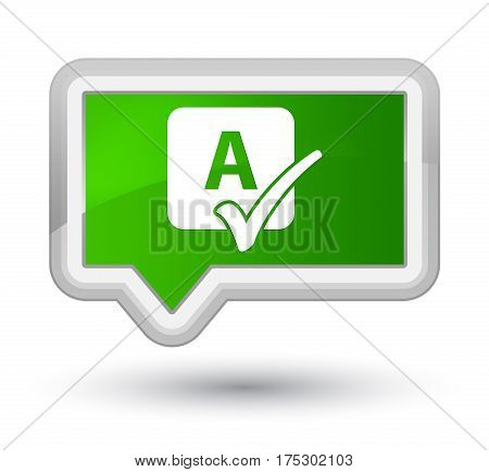 Spell Check Icon Prime Green Banner Button