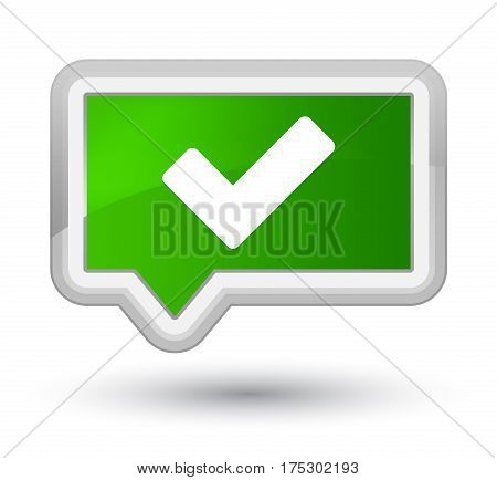 Validate Icon Prime Green Banner Button