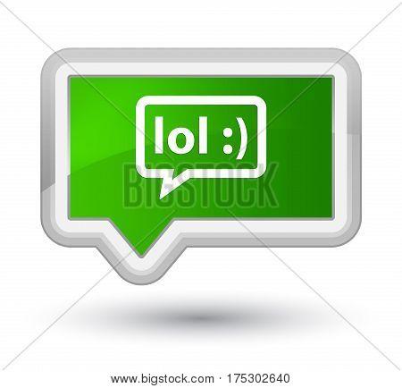 Lol Bubble Icon Prime Green Banner Button
