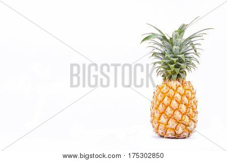 pineapple is  high vitamin C  fruit on white background healthy pineapple fruit food isolated