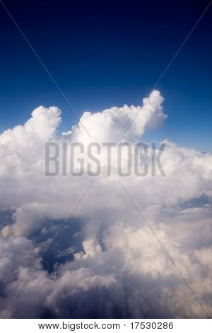 A dramatic cloudscape from the sky