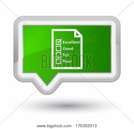 Questionnaire Icon Prime Green Banner Button