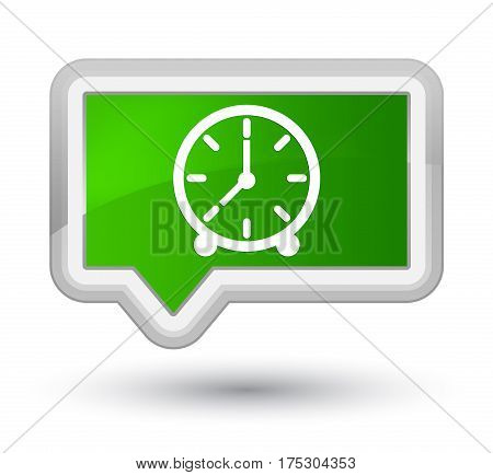 Clock Icon Prime Green Banner Button