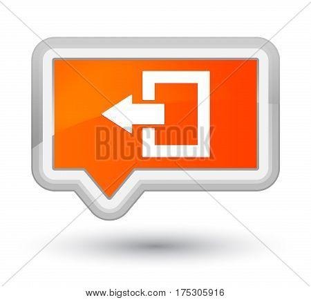 Logout Icon Prime Orange Banner Button