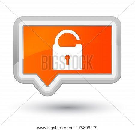 Unlock Icon Prime Orange Banner Button