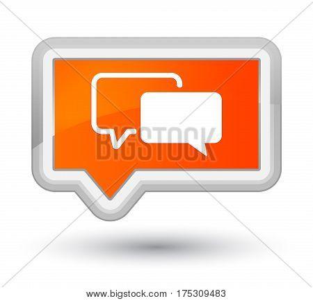 Testimonials Icon Prime Orange Banner Button
