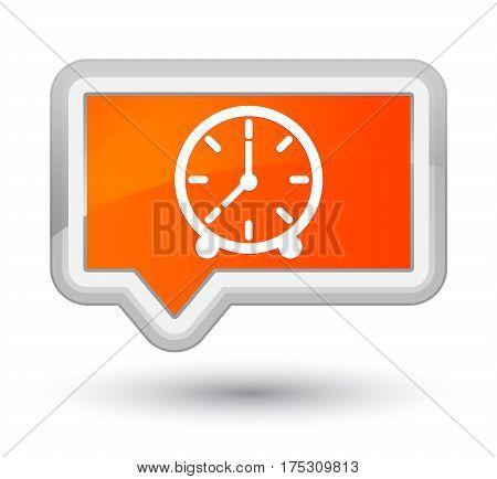 Clock Icon Prime Orange Banner Button