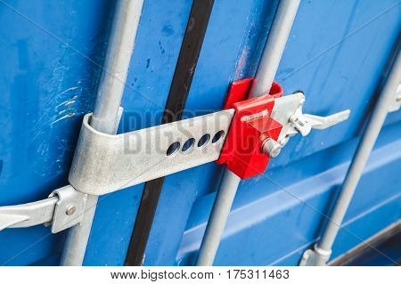 Lock On Gate Of Standard Cargo Container
