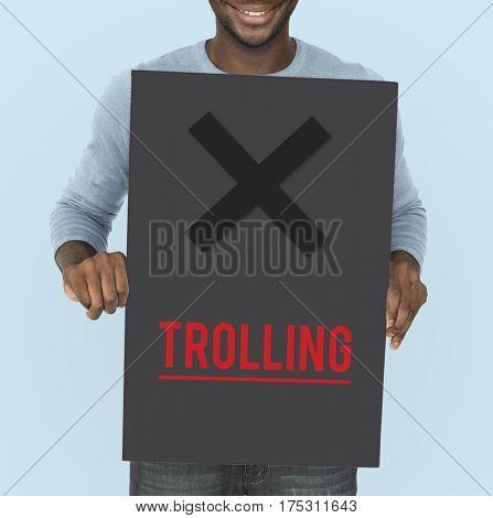 Cyber Bullying Abusement Harassment Trolling