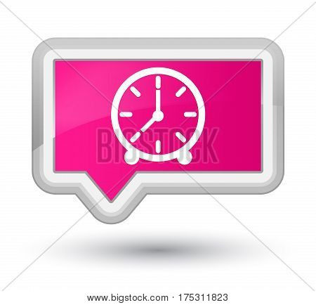 Clock Icon Prime Pink Banner Button