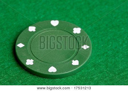 Un chip de pocker verde $25