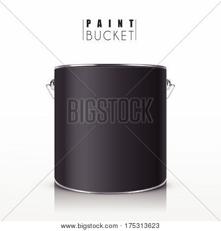 Black Paint Bucket
