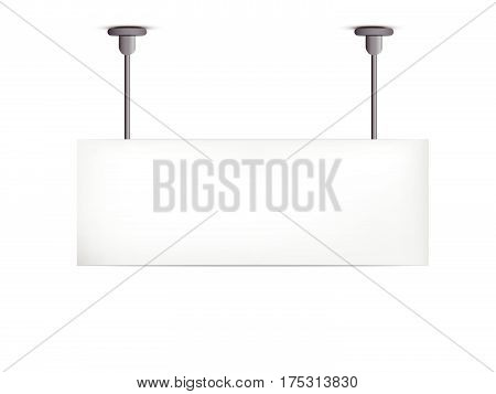 Blank Billboard Hanging
