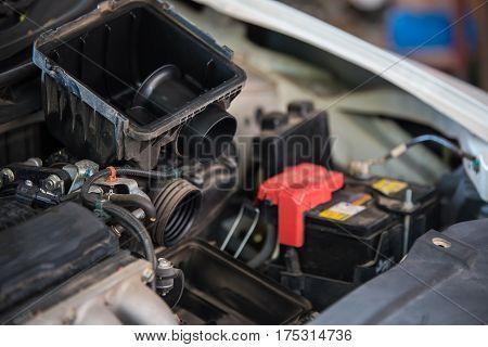 Replacing an air filter in a car