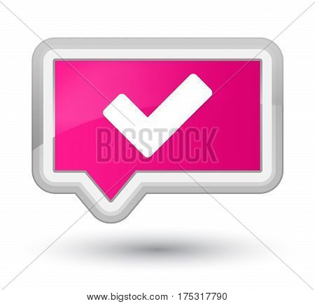 Validate Icon Prime Pink Banner Button
