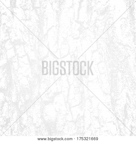 Abstract white background with dotwork texture of wood crust