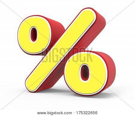 Yellow Percent Mark