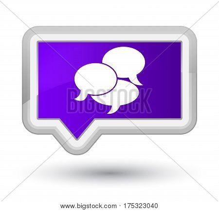 Comments Icon Prime Purple Banner Button