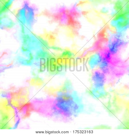 Abstract bright colorful smoke on white background, Multicolor clouds, Rainbow cloudy pattern, Blurry texture, Blurs, Gas, Steam, Fog, Foggy color spectrum, Seamless illustration