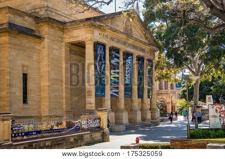 Adelaide Australia - November 11 2016: The Art Gallery of South Australia located on North Terrace in Adelaide CBD on a day