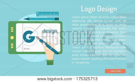 Logo Design Conceptual Banner | Great banner flat design illustration concepts for Business, Creative Idea, Concept, Marketing and much more
