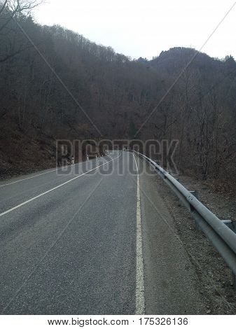 Road, road, bump, route, mountains, loess, sky, nature