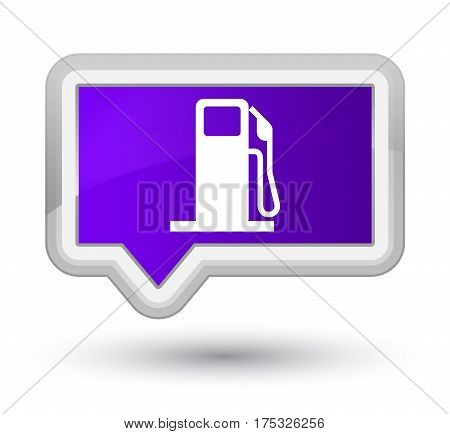 Fuel Dispenser Icon Prime Purple Banner Button