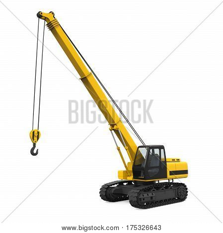 Crawler Crane isolated on white background. 3D render poster