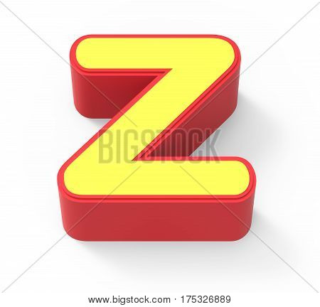 Yellow Letter Z
