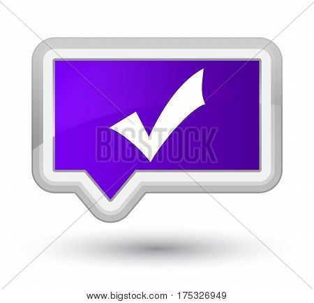 Validation Icon Prime Purple Banner Button