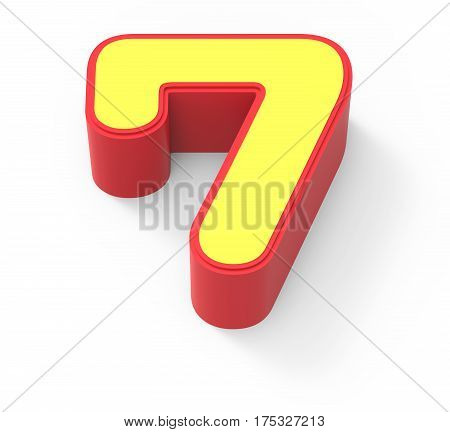 Yellow Number 7