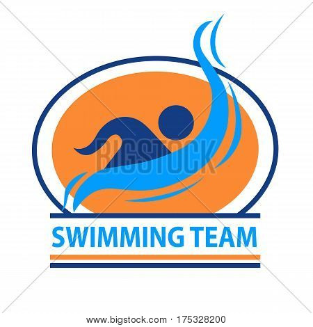 Swimming team logo. This logo can be used for sports teams and sports events.