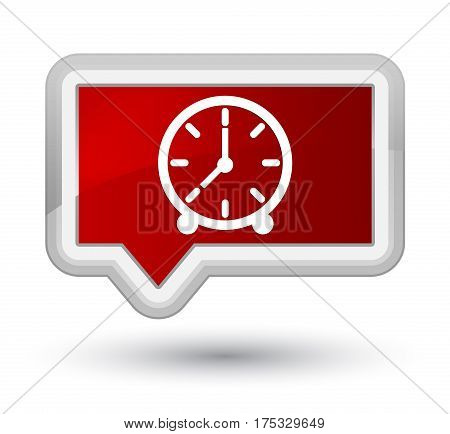 Clock Icon Prime Red Banner Button