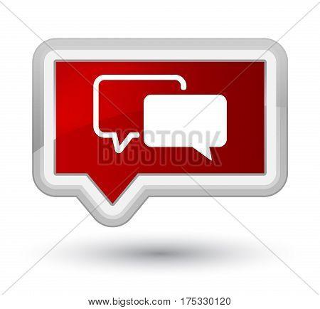 Testimonials Icon Prime Red Banner Button