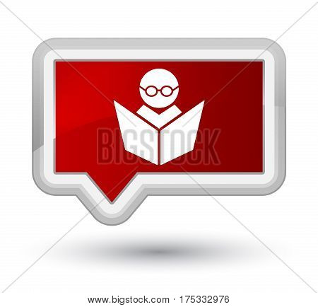 Elearning Icon Prime Red Banner Button
