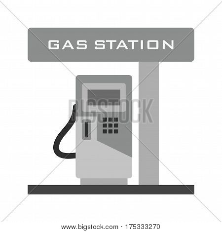 Gas station, fuel, pump icon vector image. Can also be used for town. Suitable for mobile apps, web apps and print media.