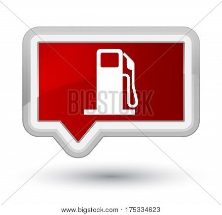 Fuel Dispenser Icon Prime Red Banner Button