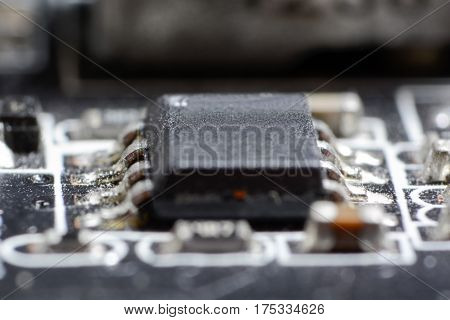 Electronic Collection - Computer Circuit Board With Radio Components