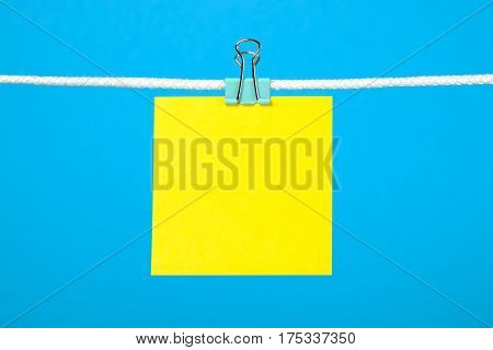 Blank Yellow Paper Note On The String