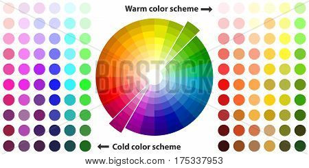 Color spectrum. Flat design, vector illustration, vector.